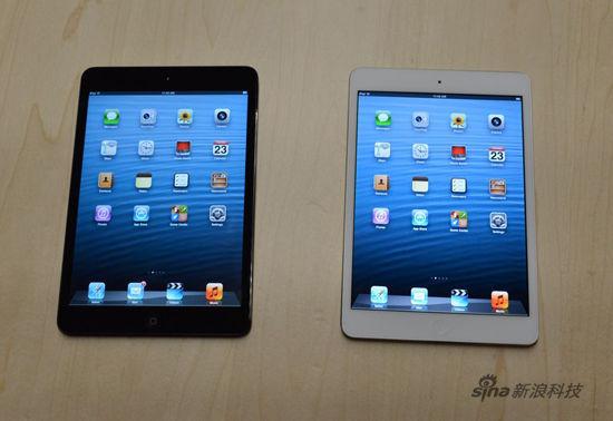 iPad mini有黑白两色可选