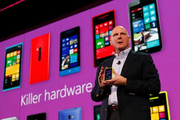 微软CEO史蒂夫·鲍尔默推介Windows Phone 8