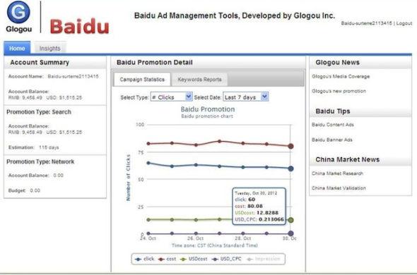 看不懂中文?Glogou开发了一个界面,帮助美国企业用英文管理百度广告服务