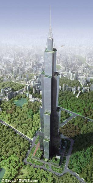 """这座名为""""天空城市""""的世界最高楼将建在长沙"""