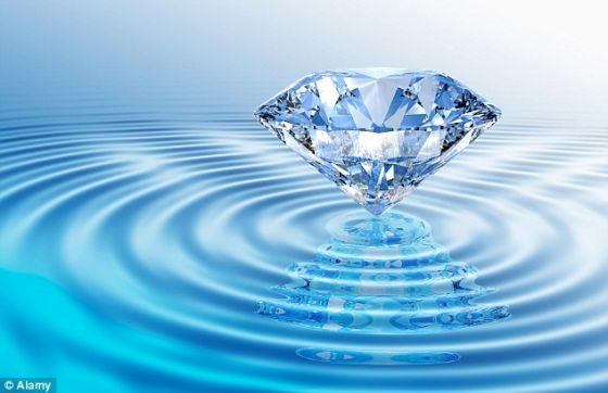 在与海王星相同的环境下,液态钻石海上会漂浮着巨大的固态钻石山