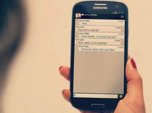 图为:Android版BBM