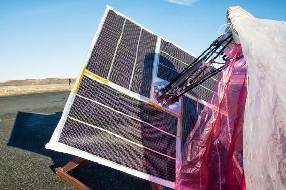 热气球上带的太阳能面板