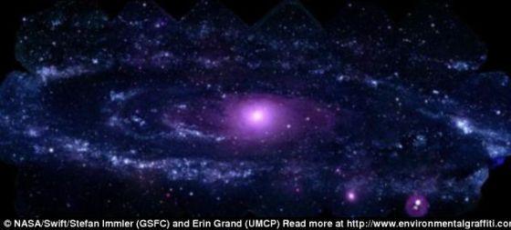 """仙女座星系图像。对于星系为何以非同寻常的方向移动,科学家尚不得知,他们将这种现象称之为""""暗流""""。银河系以及附近的仙女座星系并不存在一个巨大的未知结构,否则的话,我们所知的生命将彻底发生改变"""