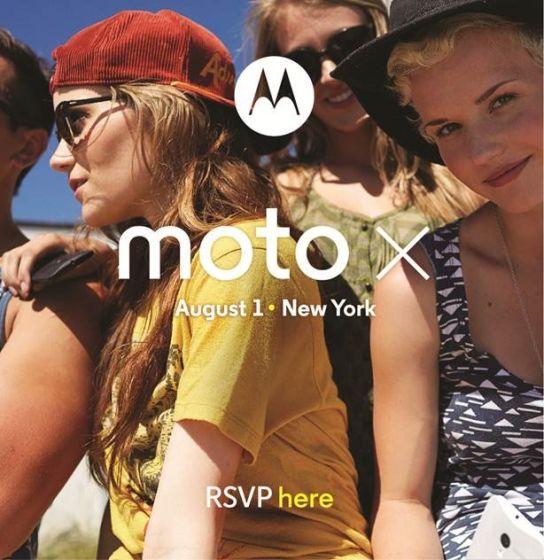 摩托罗拉8月1日发布旗舰机Moto X