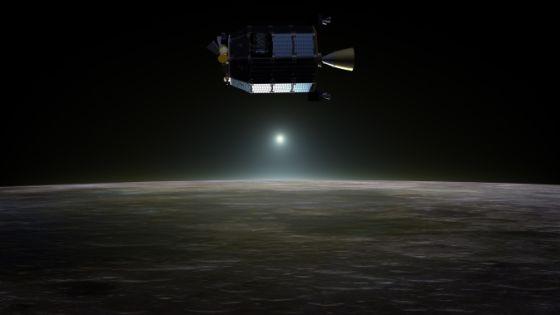 艺术示意图:正在月球上空工作的LADEE探测器