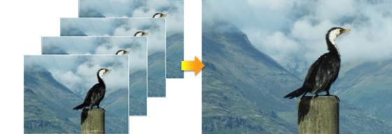 多帧合成高分辨率图片