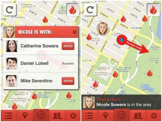 输入前伴侣姓名,分手软件就会提供前伴侣的位置信息。