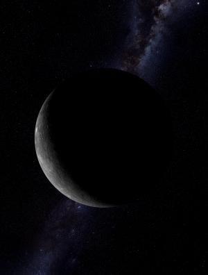 只有一小部分表面被照亮的水星