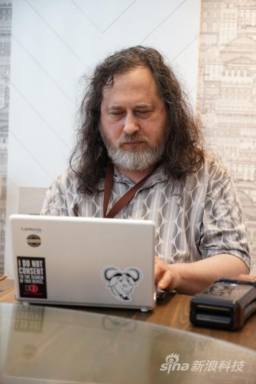 """""""自由软件之父""""理查德・斯托曼(Richard Stallman)"""