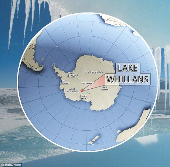 在2013年1月,这个科研组钻透0.5英里冰层,触及冰下的惠兰斯湖。