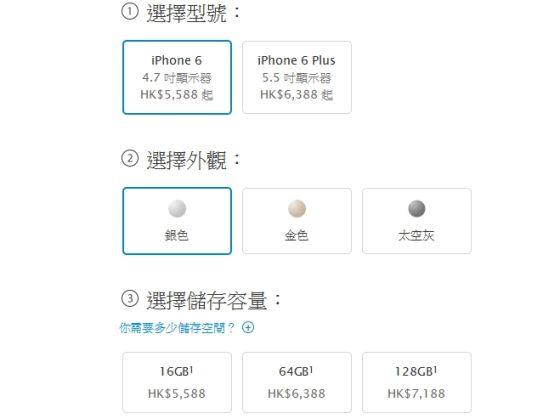 香港版iPhone 6售价