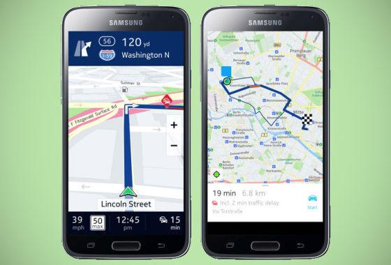 诺基亚Here地图面向三星Android设备展开独家测试