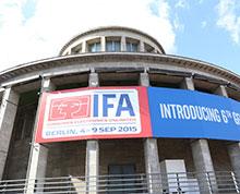 会场外巨大的IFA标志