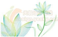 Illustrator绘制矢量抽象线描花卉(图)