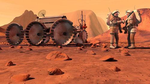 美科学家呼吁全球合作实现载人登火星(组图)