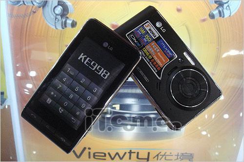 3寸触摸屏幕LG拍照强机KE998售3980元