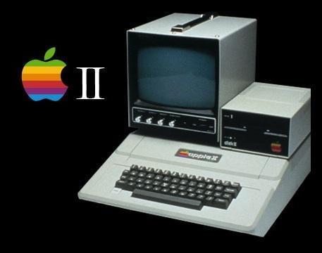 1977年apple ii,首款量产微型计算机,销售一直持续到90年代,是pc