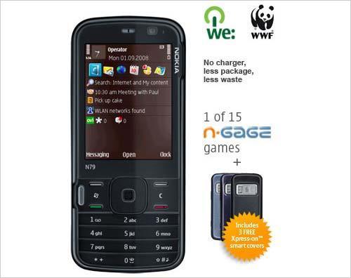 支持环保事业黑色诺基亚N79Eco版推出