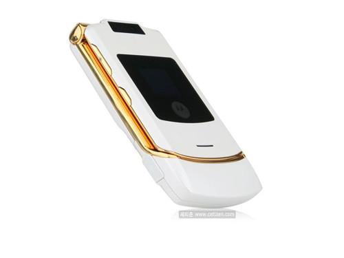 白与金的奢华摩托发布RAZR新机Luk