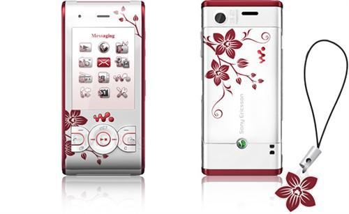 秀丽工笔艺术 索爱W595推出花卉版本_手机