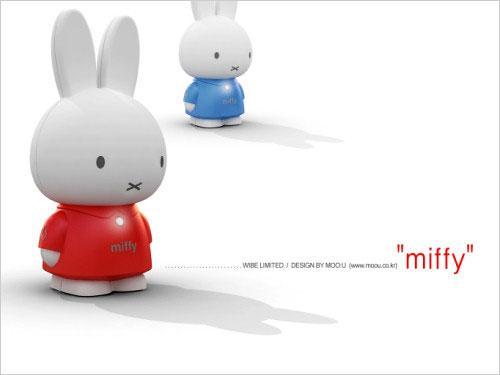 造型超可爱mobiBLU推出Miffy小兔MP3