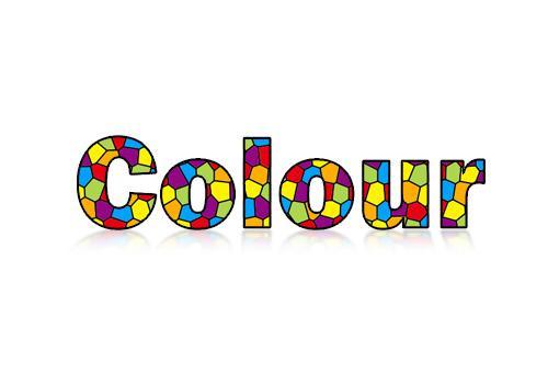 photoshop制作可爱彩色色块字体