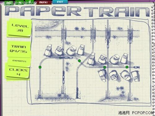 苹果益智休闲游戏 素描画面的纸火车_软件学园