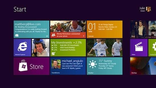 微软终于展示了下一代操作系统Windows 8