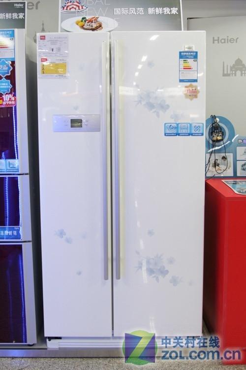 淡雅青花瓷外观海尔BCD-602W冰箱简评