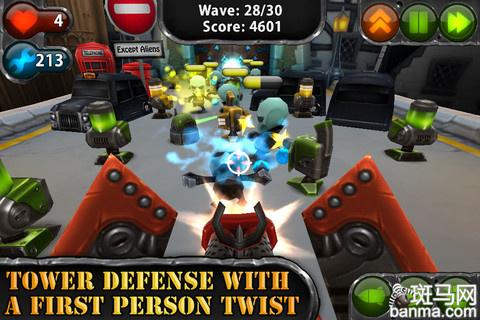 """常规的塔防模式外,在游戏界面的左下角我们可以看到一个""""眼睛""""的标志"""