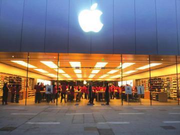 苹果西部首家直营店成都开业果粉等到天亮
