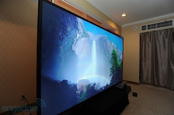 全球首台110寸4K电视亮相CES价值30万美元