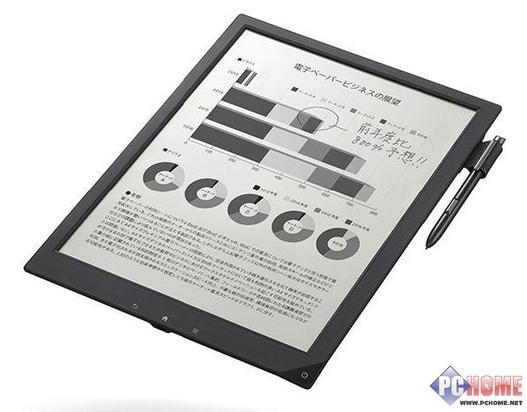 索尼发布全球最轻薄电子纸 最薄4.8mm