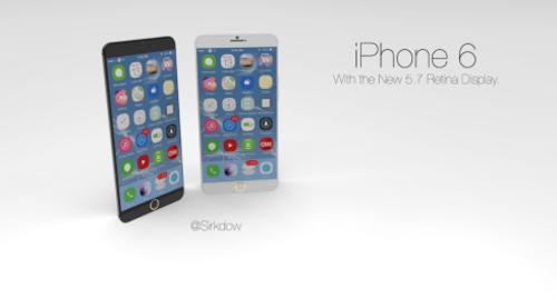 搭载iOS 8系统 5.7英寸iPhone 6设计图