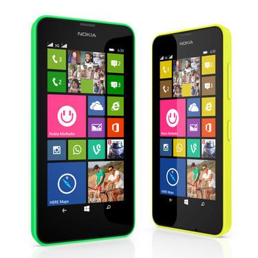 WP8.1系统/双卡双待 Lumia 630/635发布