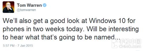 两周后 微软讲述Windows Phone 10细节