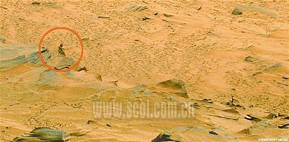 科技时代_勇气号火星拍到类似女人照片(组图)