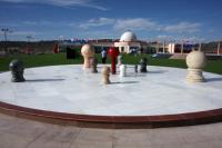 太阳系行星雕塑