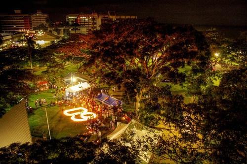 科技时代_图文:斐济苏瓦市熄灯前后