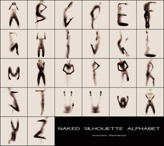 人体 裸体剪影文字艺术 组图