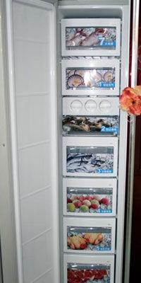 红色中国风设计LG吧台对开门冰箱热销