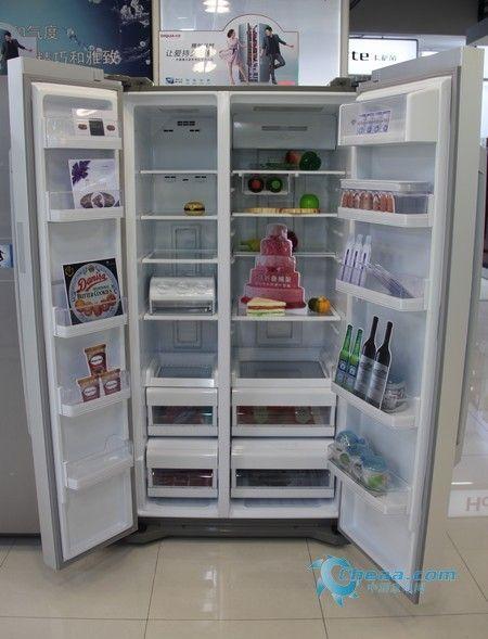 超大容积精确控温帝度对开门冰箱受捧