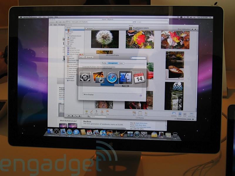 led背光 苹果发布新款cinema显示器