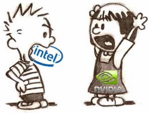 v硬件:大漫画家NV与Intel的杯具硬件_全集漫画简笔视频故事图片