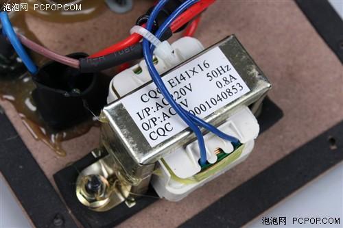 变压器的输出为9v 0.8a,算算只有7.2w