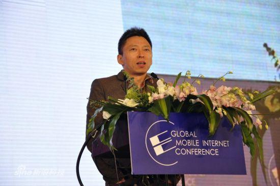 图为:搜狐CEO张朝阳演讲。