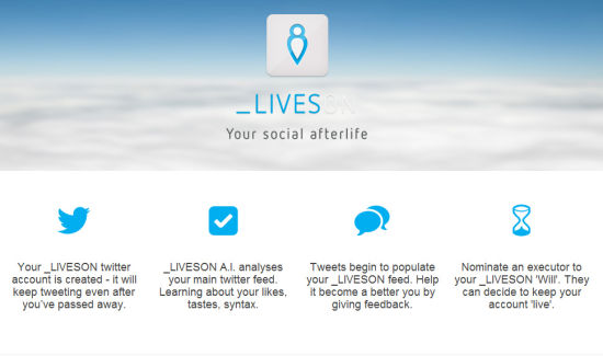 LivesOn网站首页截图