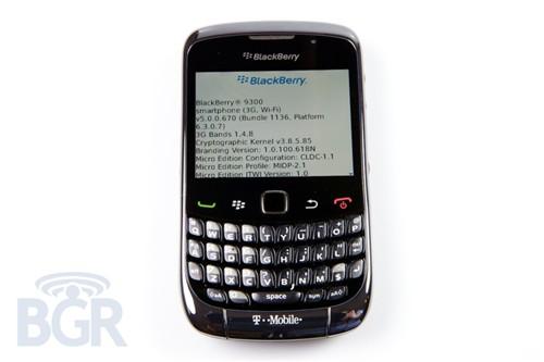 市特价而沽另日黑莓Curve9300高清图放出产