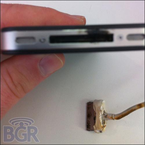 但提醒iphone 4用户注意自己的usb连接线,在使用过程中一旦出现过热